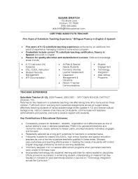 Job Winning Certified Substitute Teacher Resume Sample With Five