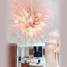 pink chandelier centerpiece wedding hand blown glass hanging led bulbs modern ceiling light drum pendant plug in shade