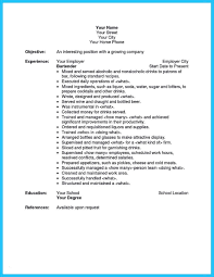 Entry Level Bartending Resume Fresh Bartender Resume Samples Free