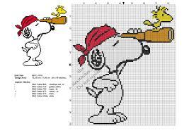 Snoopy Embroidery Designs Free Snoopy Pirate Free Cross Stitch Pattern 84x99 Cross Stitch