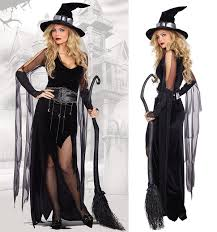 Sexy Black Witch Costume Halloween Adult Cosplay Dress Fancy Dress SM1806