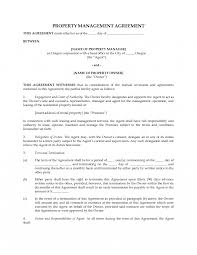 Form Samples Property Management Agreement Template Inherwake