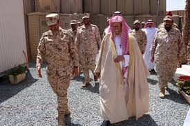 الحرس الوطني - الشيخ عبدالله التركي يزور قوات الحرس الوطني بنجران