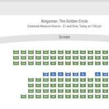 Cinemark Seating Chart Cinemark Reserve Dine In 21 And Over 2019 All You Need