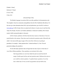 Research Paper Outline Example A Examples Blank Template Mla
