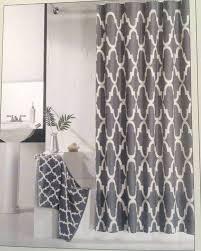 modern shower curtains. Hotel 21 Fabric Shower Curtain Charcoal Gray White Lattice Geometric Modern Curtains W