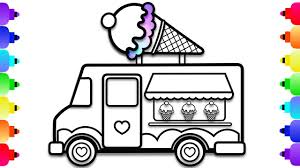 ice cream truck coloring pages. Interesting Pages How To Draw An Ice Cream Truck Easy For Kids  Coloring Page  Learn To Pages E