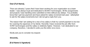Raise Request Letter Template Writing A Salary Increase Letter With 12 Formats Samples