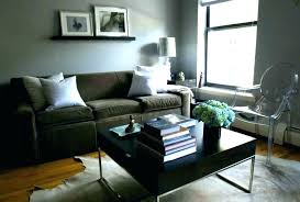 grey walls brown furniture brown couch