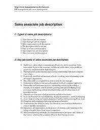 Retail Sales Associate Job Description For Resume Lovely Resume