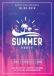 Summer Party Flyers Pin Best Graphic Design On Awesome Summer Party Flyers Summer