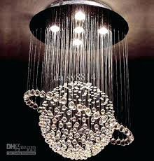 ball chandelier lights hot s modern style crystal led re living room lamp bedroom chandeliers wood from floating pendant