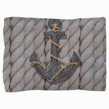 nautical pillow shams. Modren Pillow Rustic Anchor Nautical Rope Pillow Sham For Nautical Shams A