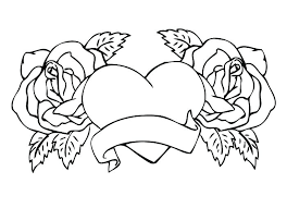 heart and rose coloring pages hearts and roses coloring pages printable coloring pages hearts coloring pages