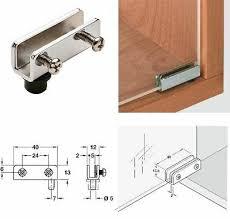 2 x glass door pivot hinges 110º chrome