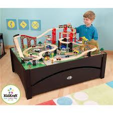 kidkraft new metropolis wooden play train table set open box