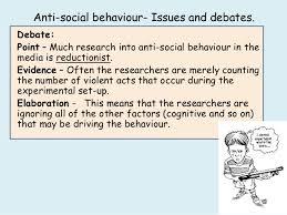 media psychology anti social behaviour