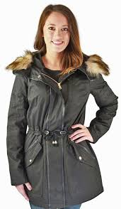 jessica simpson anorak women s hooded parka winter coat faux fur size l