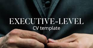 Executive Resume Template Cv Template A Complete Guide To Writing An Executive Level Cv