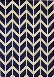 navy blue chevron rug
