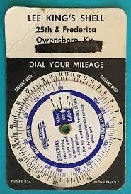 Vintage Dial Your Mileage Calculator Als Service Station