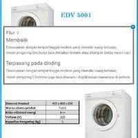 electrolux dryer 6 5kg. mesin pengering / dryer electrolux edv - 5001 6 5kg