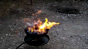 Little Red Campfire, portable fire pit - YouTube