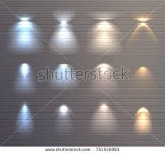 wall lighting effects. Set Of Light Effects Blue And Yellow Color On Brick Wall Background Isolated Vector Illustration Lighting E