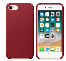 apple iphone 8 7 leather case product red