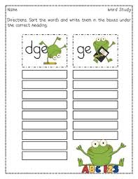 Worksheets are spelling mechanics homeschool word worksheets are spelling mechanics homeschool word study, blends digraphs trigraphs activity, fun. School Frogs Dge Ge Word Sort Word Sorts Phonics Reading Ge Words