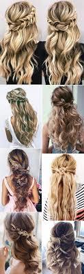 15 Chique Half Up Half Down Bruiloftskapsels Voor Lang Haar