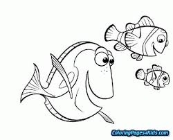 Finding Nemo Characters Coloring Pages Free Printable Coloring Pages