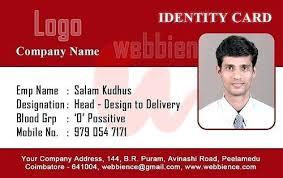 Work Identity Card Business Id Card Template 2 Free Company Employee Identity Card