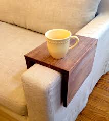 Couch Tray Table Wood Couch Arm Shelf Large