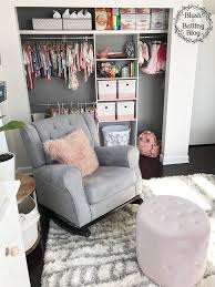 baby girl nursery tour nursery closet organization blush and batting blog