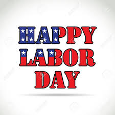 labor day theme happy labor day theme text with flag elements royalty free cliparts