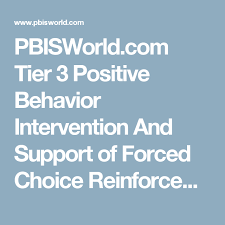 Pbisworld Com Tier 3 Positive Behavior Intervention And