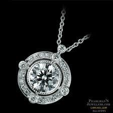 beverley k necklaces beverley k 18kt white gold diamond halo semi mount pendant