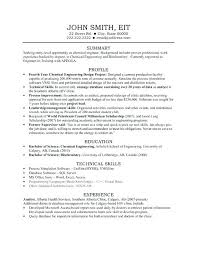Resume Format For Chemical Engineer Chemical Engineer Resume