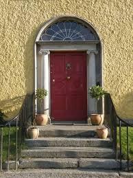 house front door open. Open Red Front Door Home House