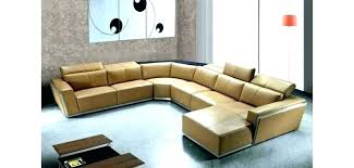nevio sectional u shaped leather sectional tan sofa design orange 5 l with 3 power recliners