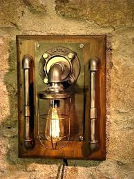 steampunk wall light good steampunk wall lamp and industrial made by more light with sconce full steampunk wall