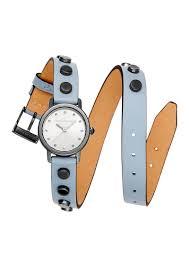 rebecca minkoff women s fl studded leather wrap watch