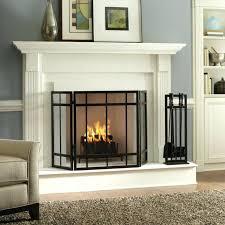 smlf contemporary brushed nickel fireplace doors modern glass agreeable ravishing flat screen custom design apropos white painted