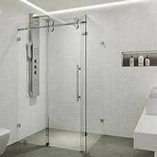 frameless shower glass partition