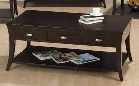 Coffee Table With Drawers Add This Espresso Coffee Table To Your Living Room Decor