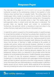 Example Of Response Essays Write My Academic Response Essay Hire An Academic Writer