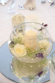 Fish Bowl Table Decoration Ideas fish bowl Mirror wedding centerpieces Wedding centrepieces and 2