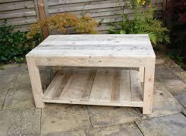 rectangular pallet coffee table
