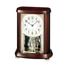 seiko emblem wooden mantel clock